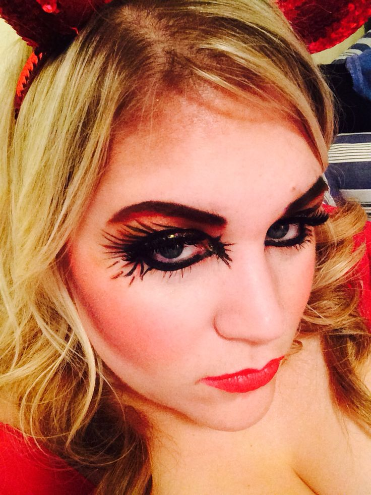 Halloween Makeup - Detroit Duchess  Demon Halloween Makeup