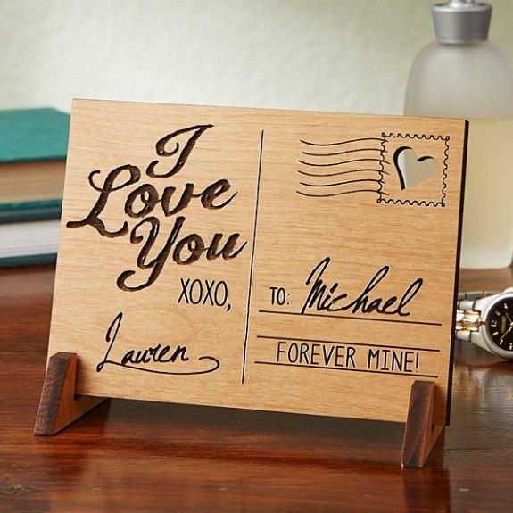 wood postcard