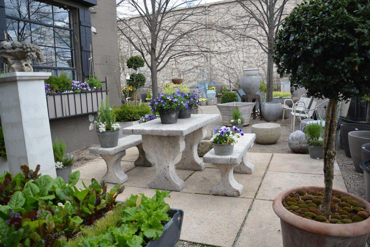 Belgian Bluestone Garden Table And Benches