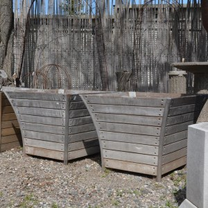 Belgian White Oak Floris Planter Boxes