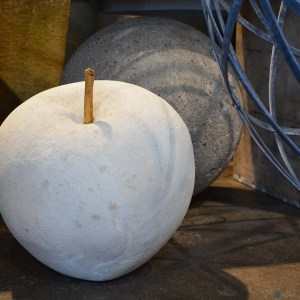 Contemporary English Concrete Sculpture Apple