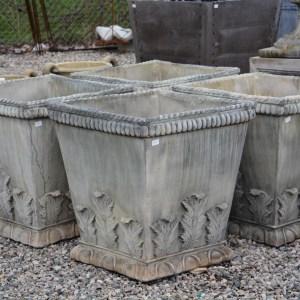 English concrete acanthus pots