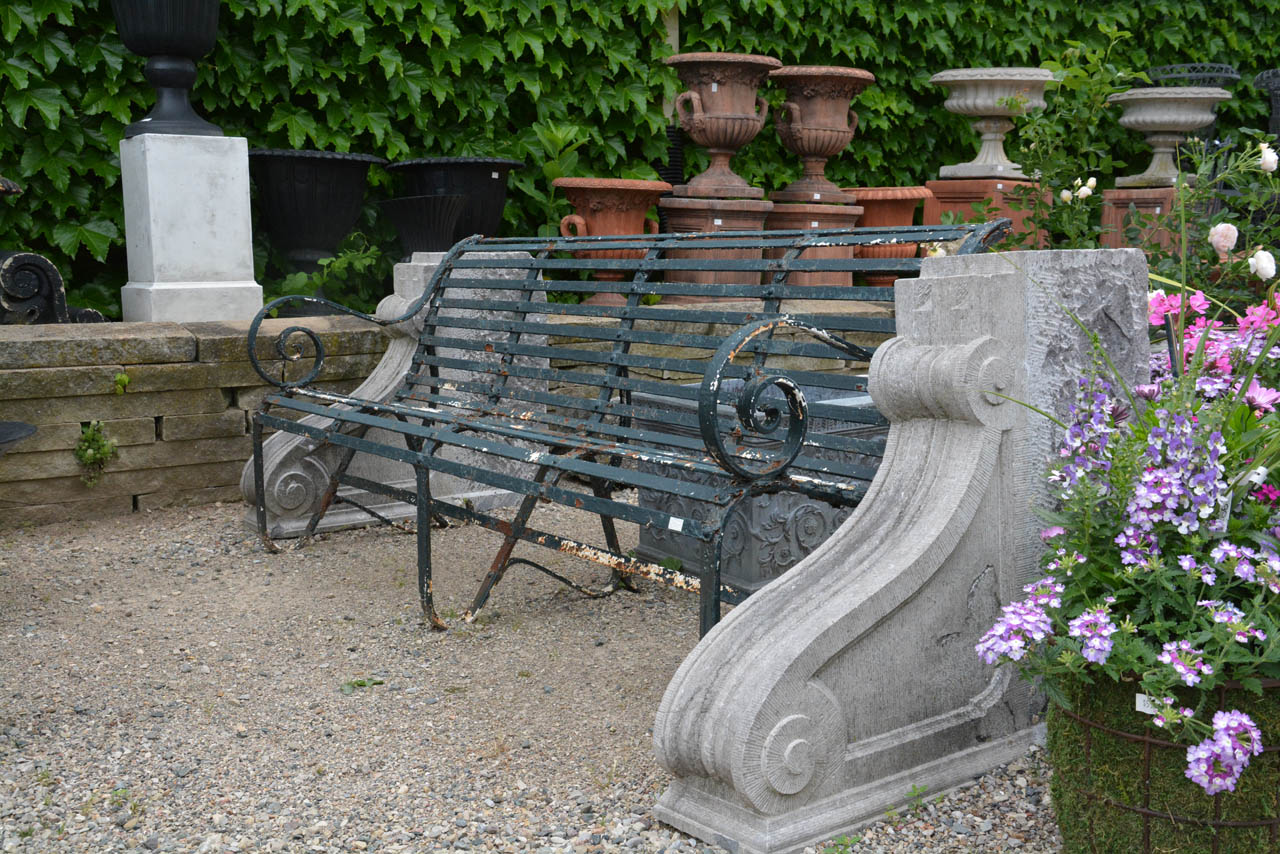 Cast Of Benched : Antique english cast iron park bench detroit garden works