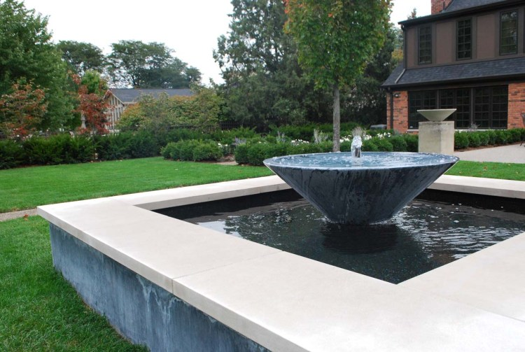 The Branch Studio Tapered Steel Brake Form Fountain
