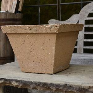 Vintage English Concrete Tapered Square Pots Main