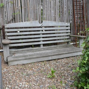 Vintage Wooden Porch Swing main