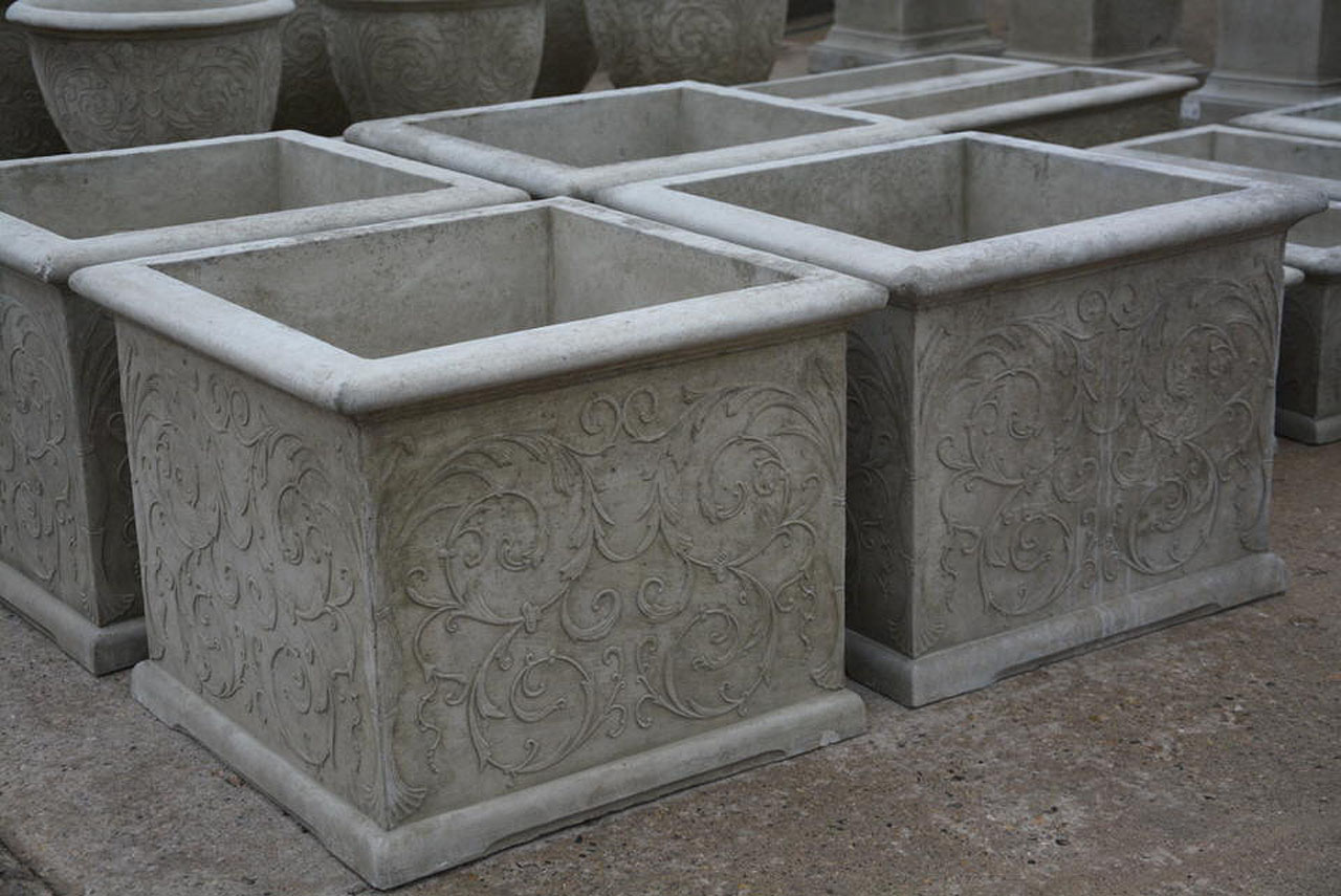 Concrete Arabesque Planters – Detroit Garden Works