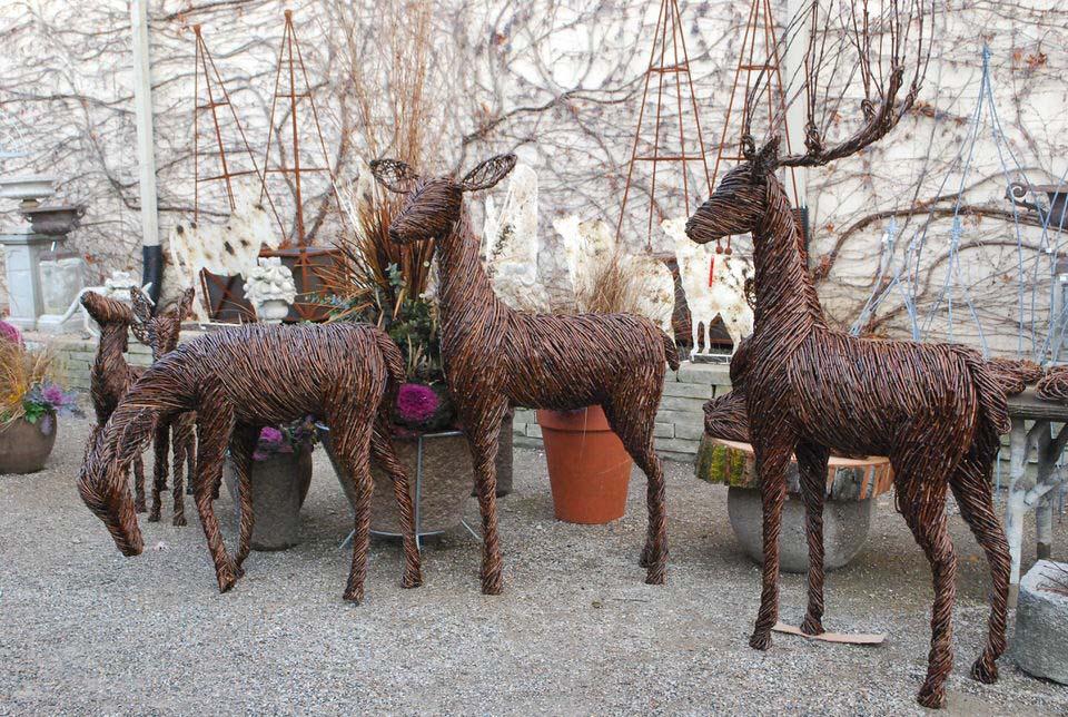 Grapevine Deer Detroit Garden Works