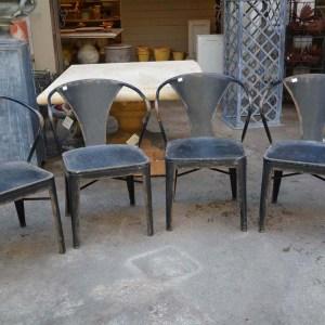 Black Metal Garden Chairs