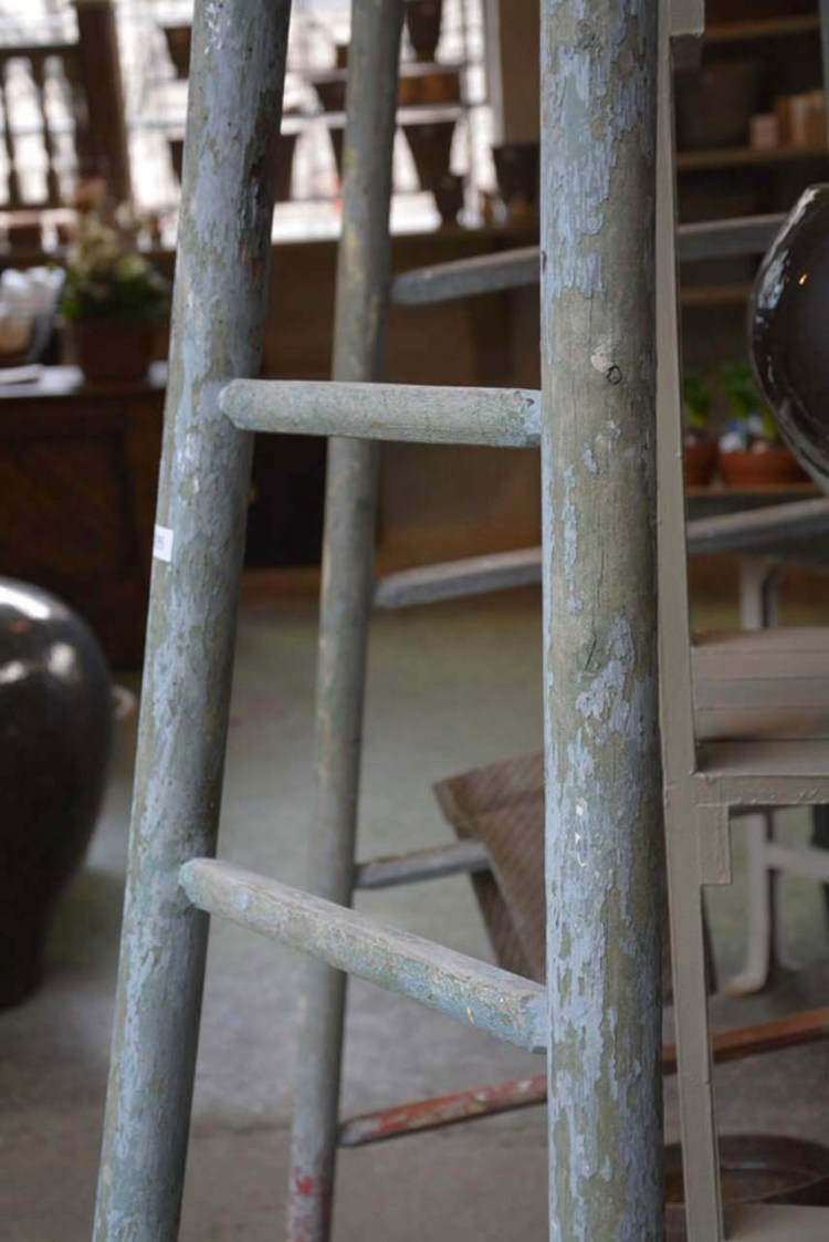 vintage French painters ladder