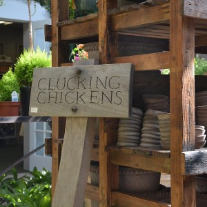Clucking Chickens Wooden Sign 2