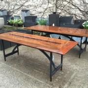 ipe and steel garden tables