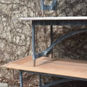 The Branch Studio Ipe and Steel Tables Detail