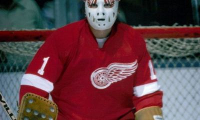 Jim Rutherford in goal