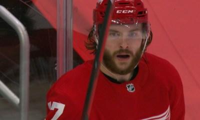 First round draft pick Michael Rasmussen is trying to establish himself as an NHL regular