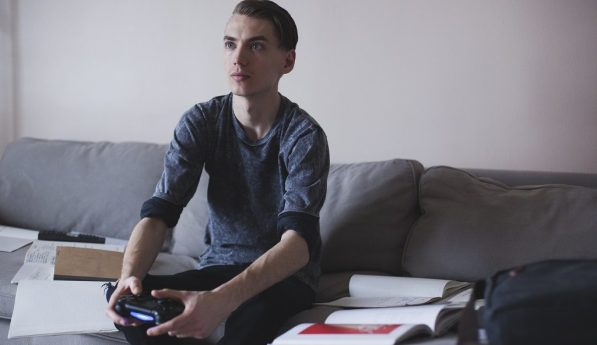 Marlowe Johnson playing video games