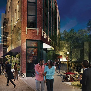 Rendering of Hastings Street, the new Paradise Valley project, courtesy DRFC