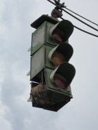 First tri-color four directional traffic light from 1920s.