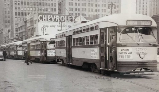 Historic Detroit streetcars, courtesy of Walter P. Reuther Library