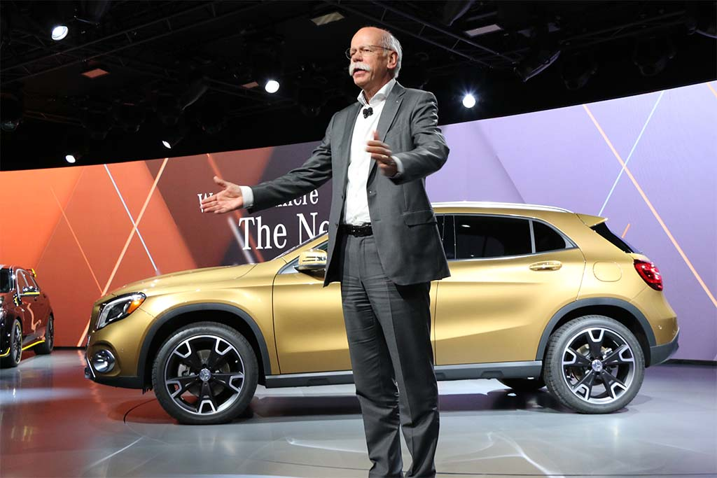 Daimler CEO Dieter Zetsche at an offsite preview before the start of the official 2017 NAIAS media preview