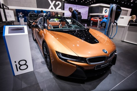 BMW showed off their i Models, electric versions of some of the favorite cars.