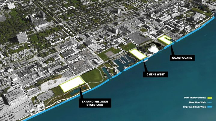 New Parks & Waterfront Improvements, Courtesy Detroit Riverfront Conservancy