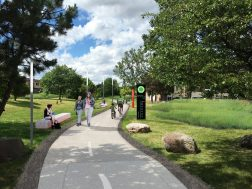 Improved Campau Greenway Concept. Courtesy Detroit Riverfront Conservancy