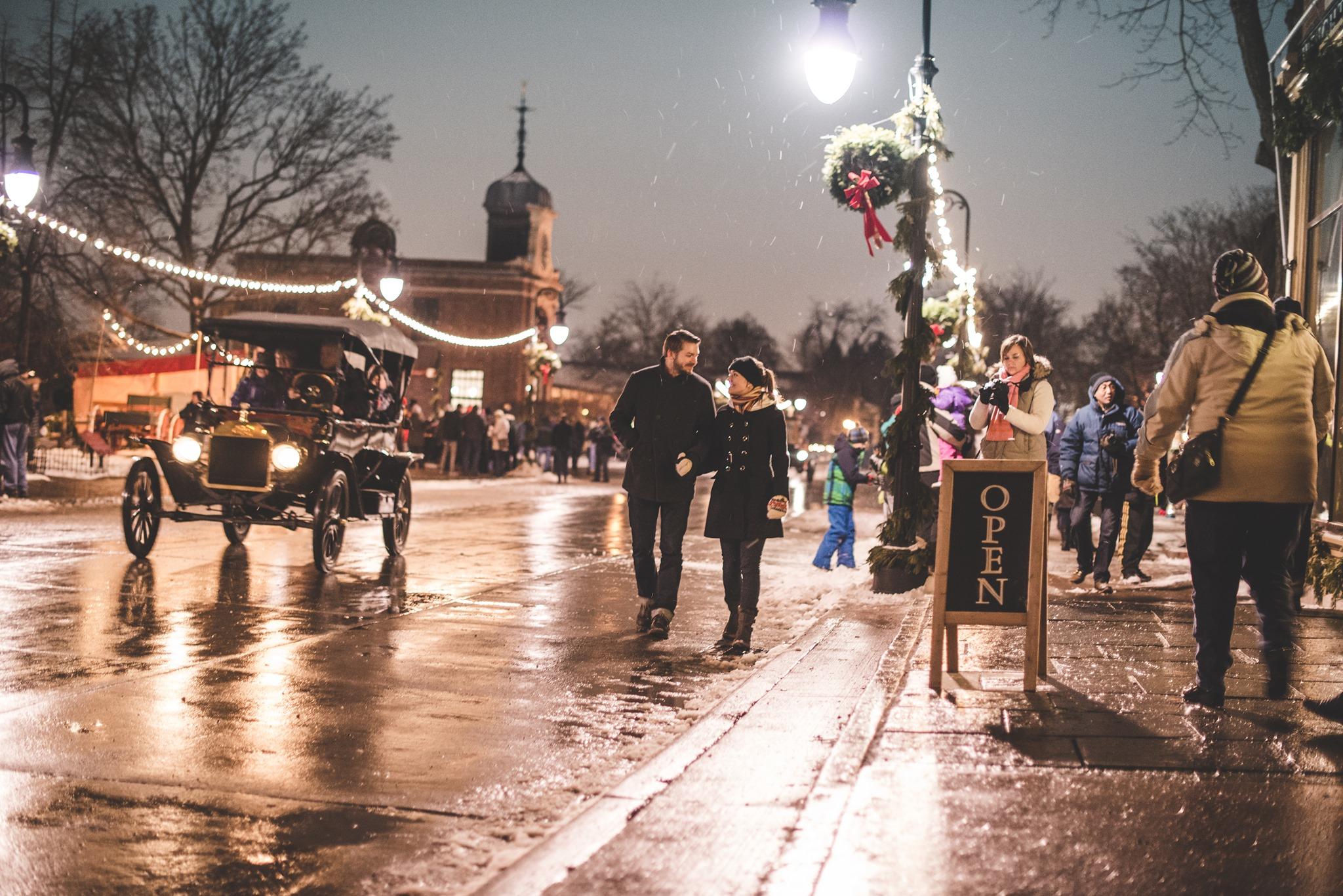 Holiday Nights at Greenfield Village, Dearborn, MI photo courtesy Greenfield Village