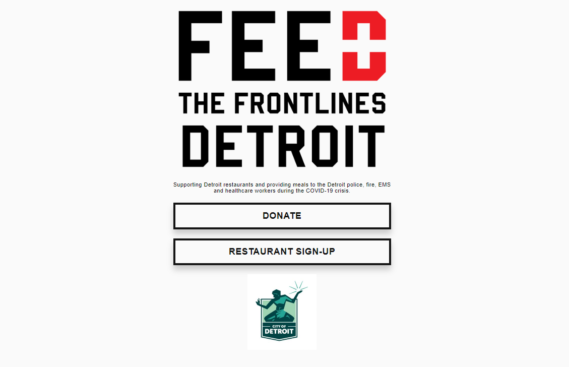 Returning to Work and Feed the Frontlines Were the Topic of Discussion pICTURE: A SCREENSHOT FROM THE FEED THE FRONTLINES WEBSITE.