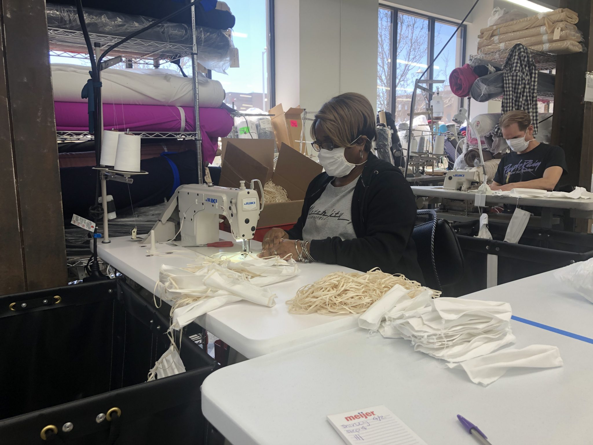 MASKS BEING MANUFACTURED BY DETROIT SEWN. PHOTO G1 IMPACT