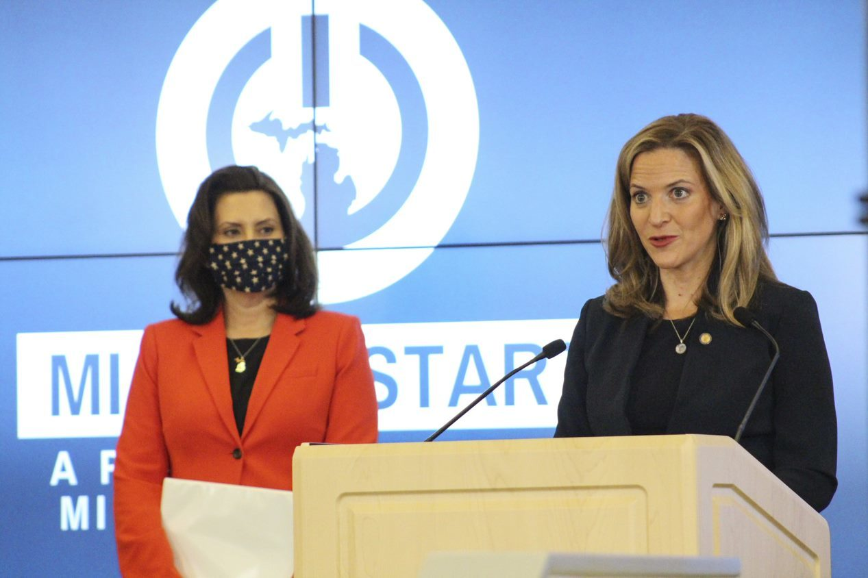Michigan bars GOVERNOR GRETCHEN WHITMER AND MDHHS CHIEF DEPUTY FOR HEALTH AND CHIEF MEDICAL EXECUTIVE DR. JONEIGH KHALDUN.