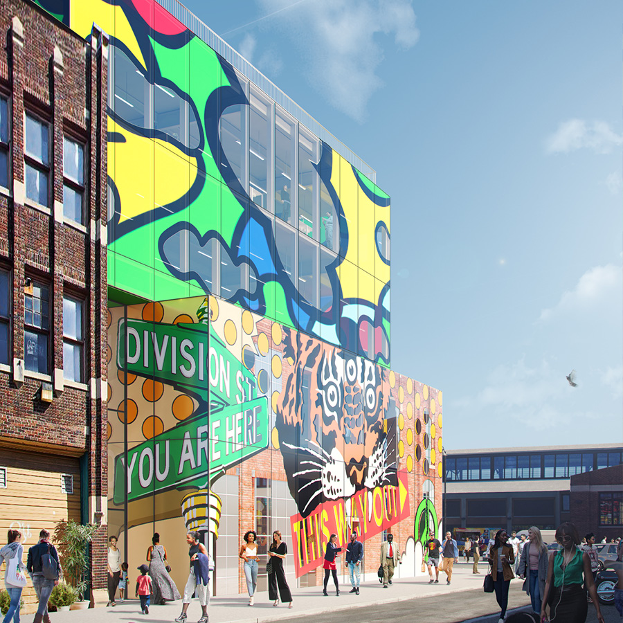 MVRDV GLASS MURAL RENDERING