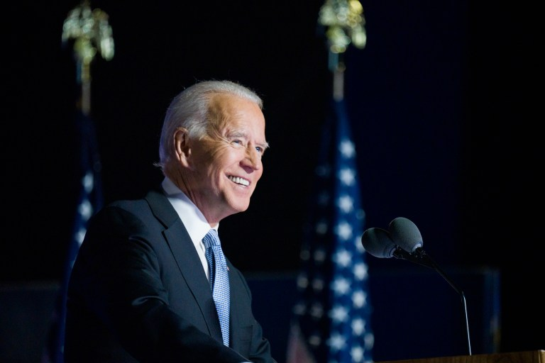 AMERICAN RESCUE PLAN JOE BIDEN SHORTLY AFTER HIS NOVEMBER VICTORY. PHOTO DAVID LIENEMANN / BIDEN FOR PRESIDENT