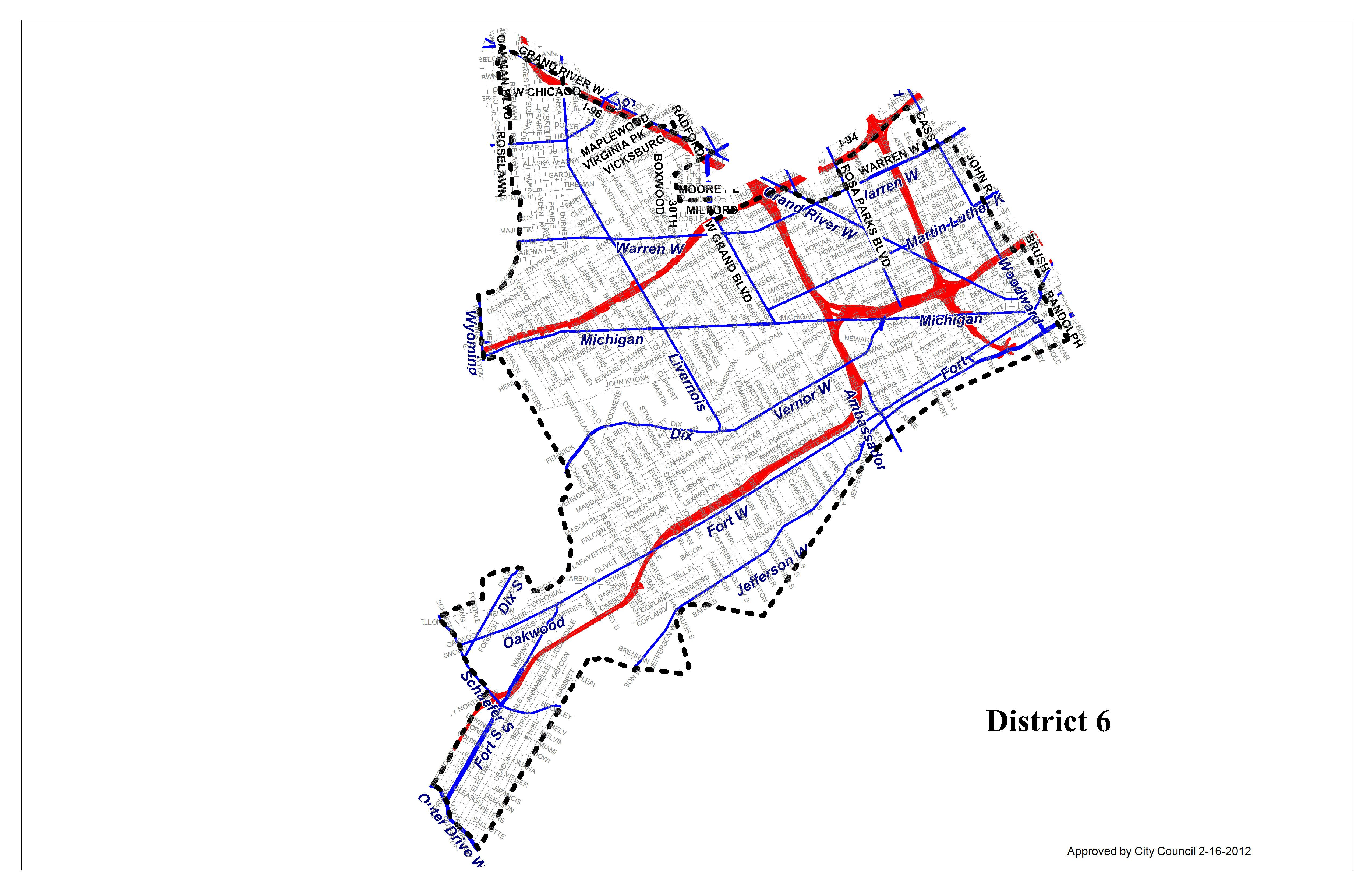 مجلس المدينة المنطقة 6 City Of Detroit