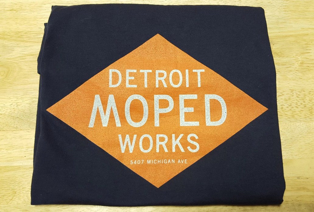Detroit Moped Works Navy Blue shirt