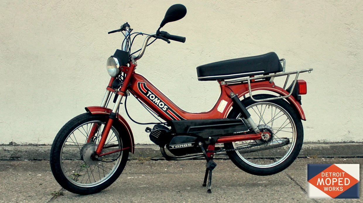 1991 Red Orange Tomos Bullet A3 Sold Detroit Moped Works