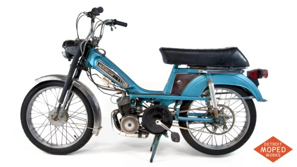 1978 Blue Silver Motobecane Moby 50VLC US Detroit Moped Works 1