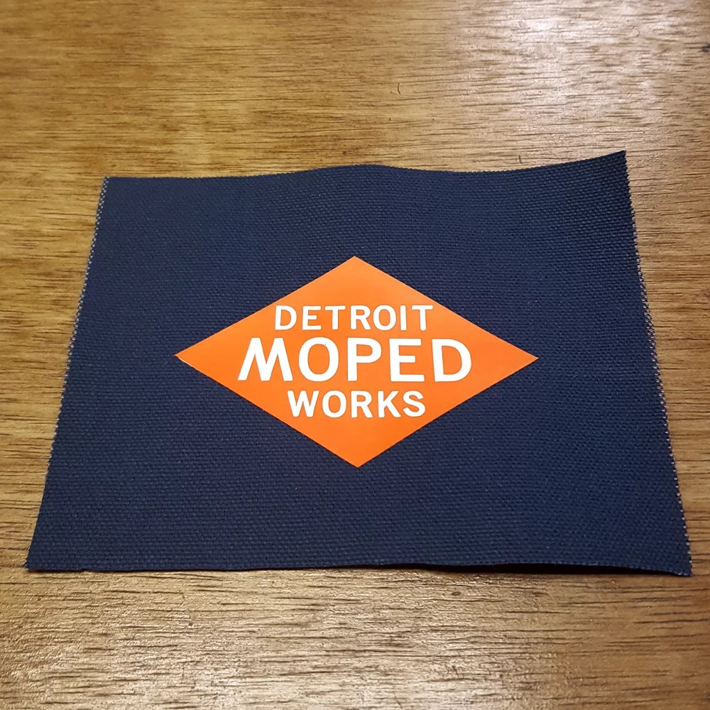 Detroit Moped Works canvas patch