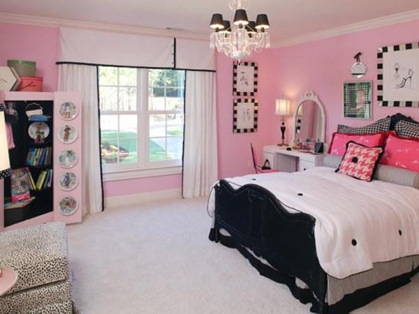 Розовая комната девочки: сочетание розового с другими ...
