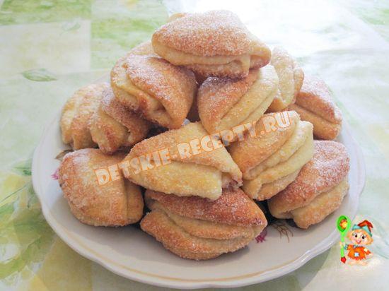Творожное печенье эчпочмак (треугольники) - рецепт с фото ...