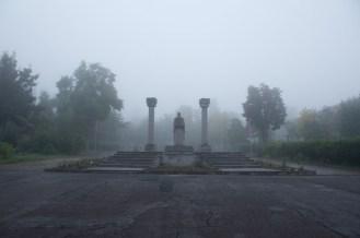 I et kort øyeblikk blir sikten bedre og vi kan se dette, Goris' bypark.