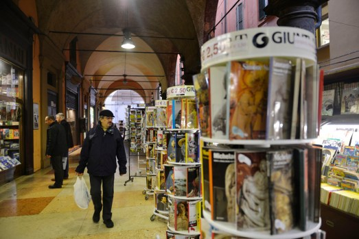 Portico eller søylegang i Bologna, verdensarv i Italia