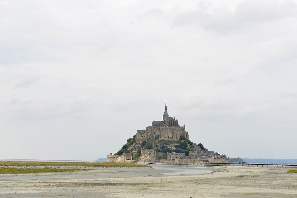 Mont-st-Michel Frankrike Normandie