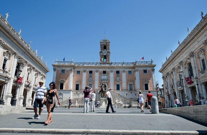 Piazza del Campidoglio, Michelangelo, Roma
