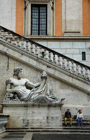 Palazzo Senatorio på Piazza del Campidoglio, Michelangelo, Roma