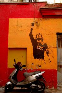 Roma Italia Totti grafitti