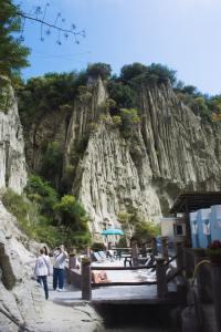 Spaen Cavascura i en varm kilde på Ischia i Italia