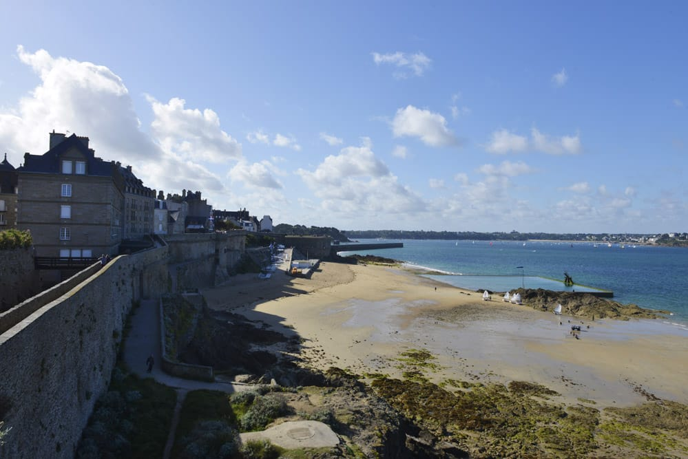 Bymur i Saint-Malo, Bretagne, Frankrike