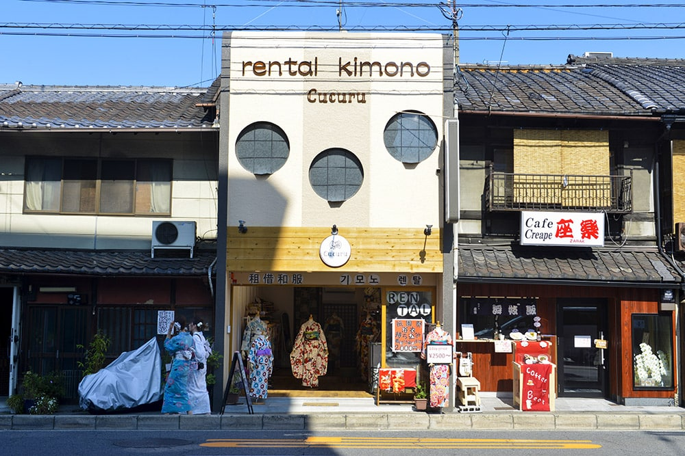 Kimono rental Kyoto, Japan, kimono utleie
