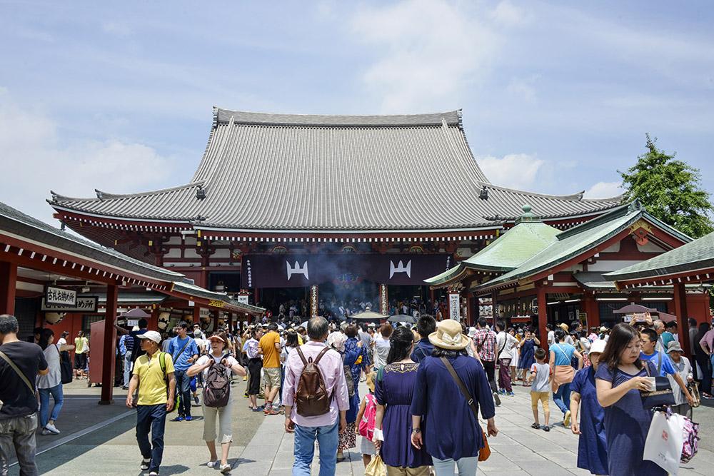 Asakusa, Sensōji tempelet, Tokyo, buddhistisk tempel i Japan